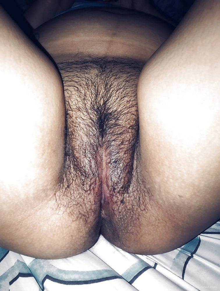 Young Wife showing her hairy pussy