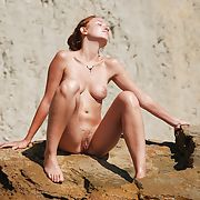 Amazing french redhead amateur exposed - outdoors 2