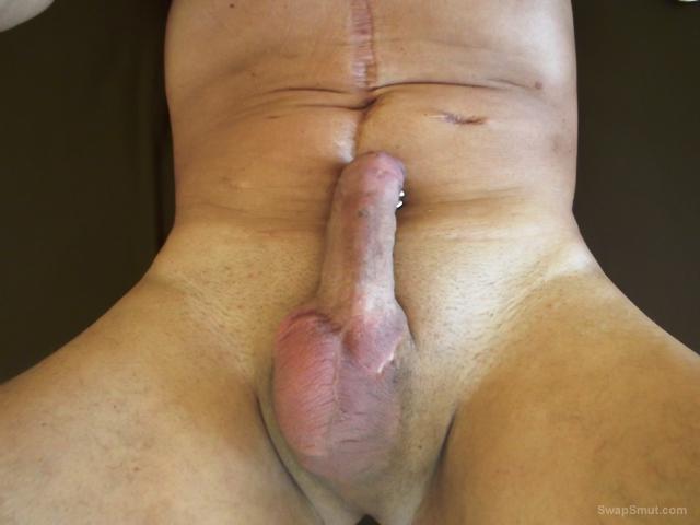 Naked German man for outdoor sex piercings on penis