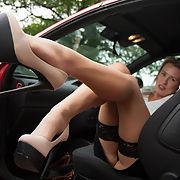 Hot Blonde MILF in Sexy Pantyhose