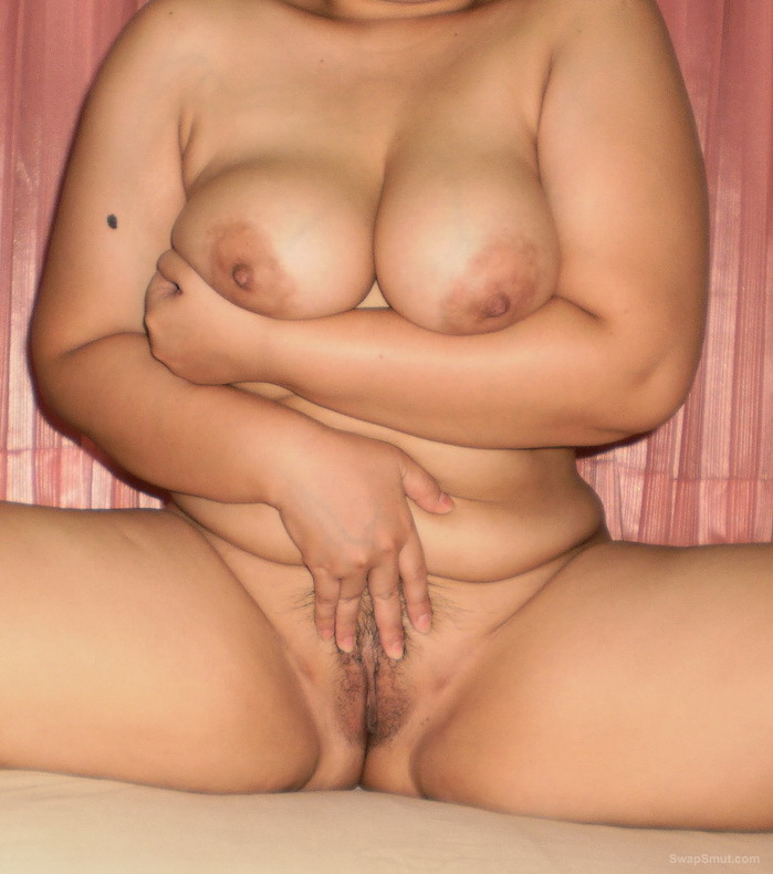 My busty asian wife showing her body again grabbing hold of tits