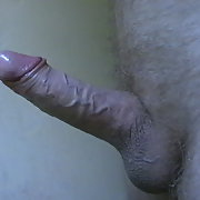 My stiff cock after shaving and edging just before I shoot my cum load