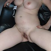 A hope you enjoy the pictures of this naughty slut's hairy pussy