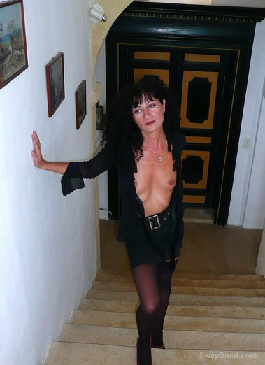 Sexy French milf posing for hubby and you in fuck me lingerie