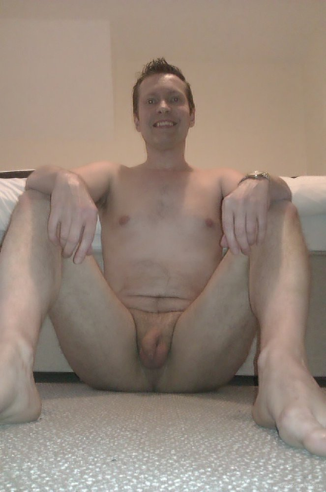 Horny UK exhibitionist posing full frontal hope you like my dick