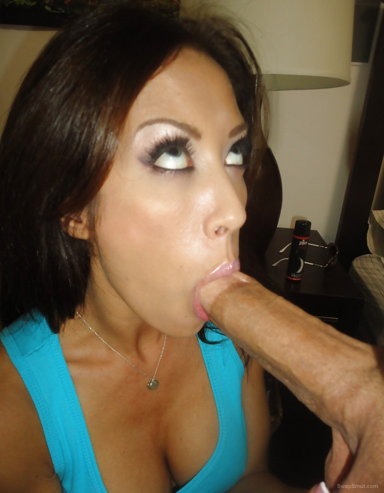 brunette sex slut loves a big dick in mouth and roughing up her cunt