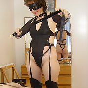 A very hard BDSM for a hot wife in leather clothes