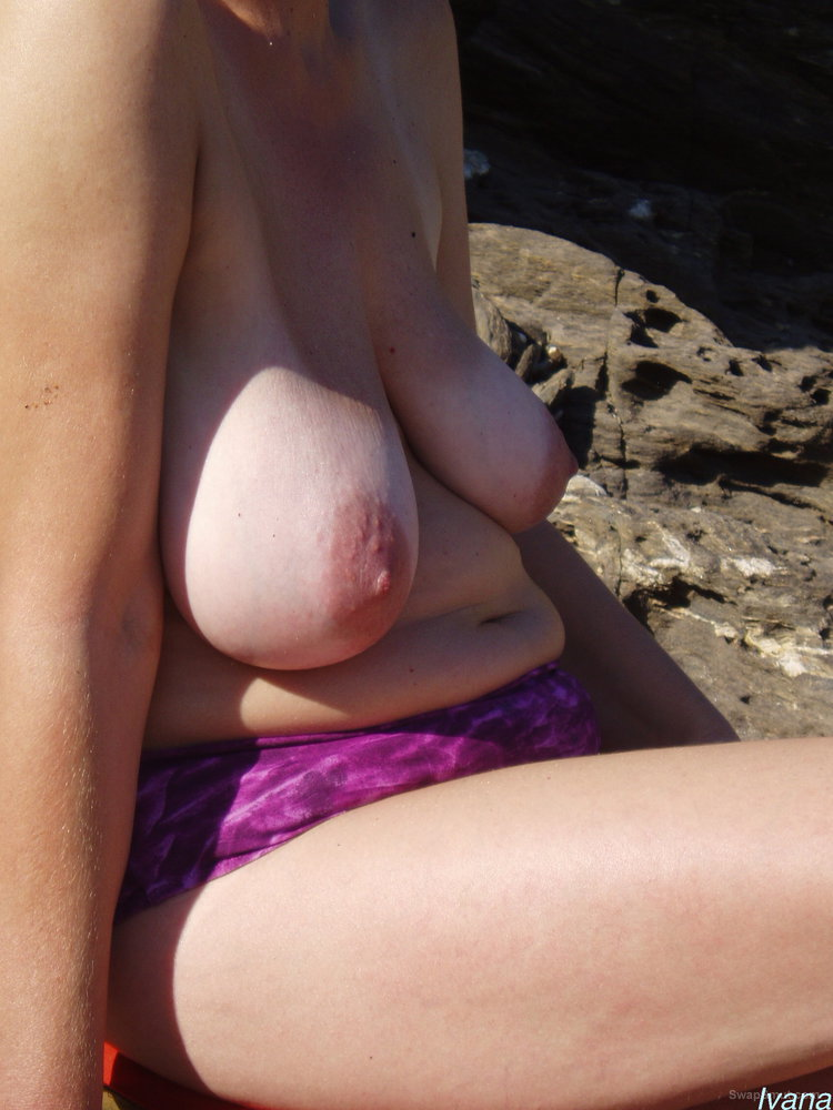 Ivana you will always find her on a beach topless