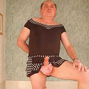 Me Crossdressing and Showing My Cock