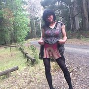 Cross dress walk - country road walk