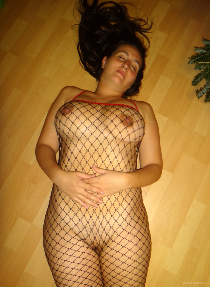 Sexy Net Bodystocking Helps by Adding to the Christmas Décor