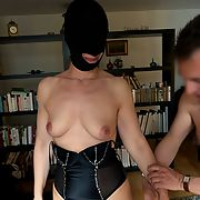 Now in a blindfold, Anna is used and abused and just played with for our pleasures