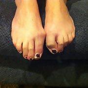 Chipped Toenail Polish Sexy Slut Feet