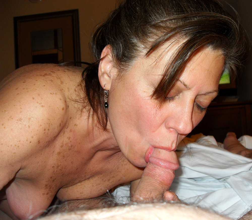 Hot MILF Diane Sucks on a Cock Then Teases Us