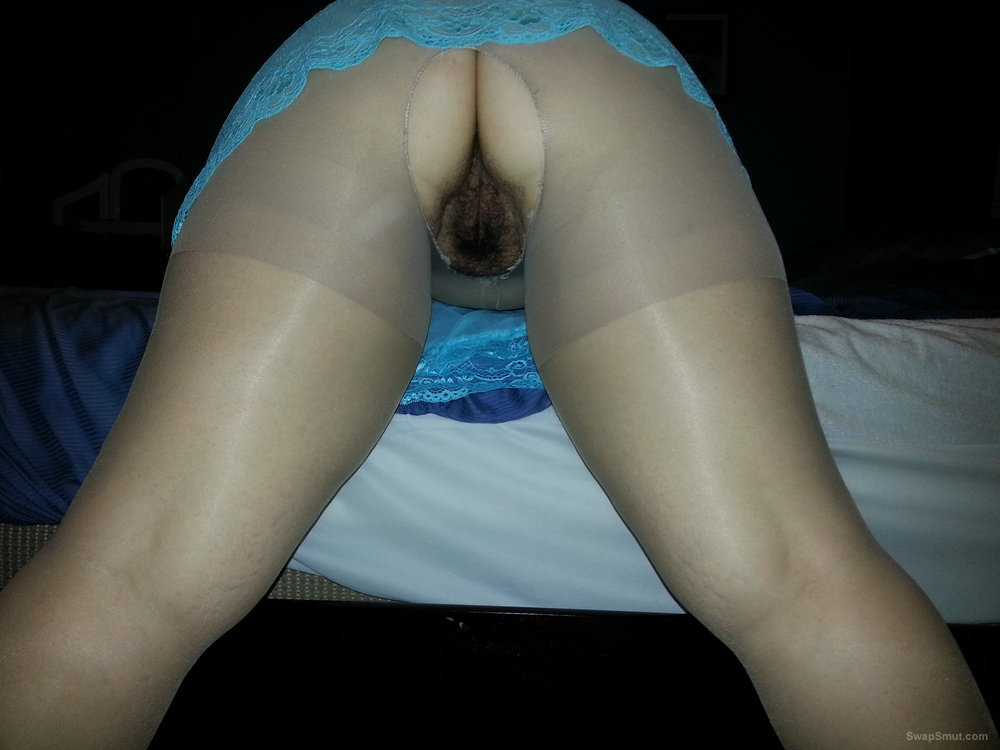 My sexy Pantyhose ass wife showing off her ass pussy and legs