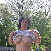 Kathy loves being naked at home