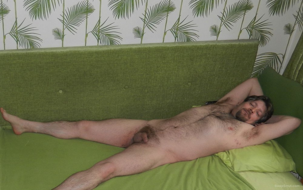 A lazy day, lounging about, time to get nude and let you have a good look at me