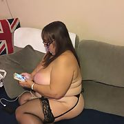 Black lingerie day for Heather