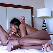 Ebony interracial porn with pornstar Ana Loxx