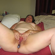 BBW amateur masturbating with a vibrator having fun on my own