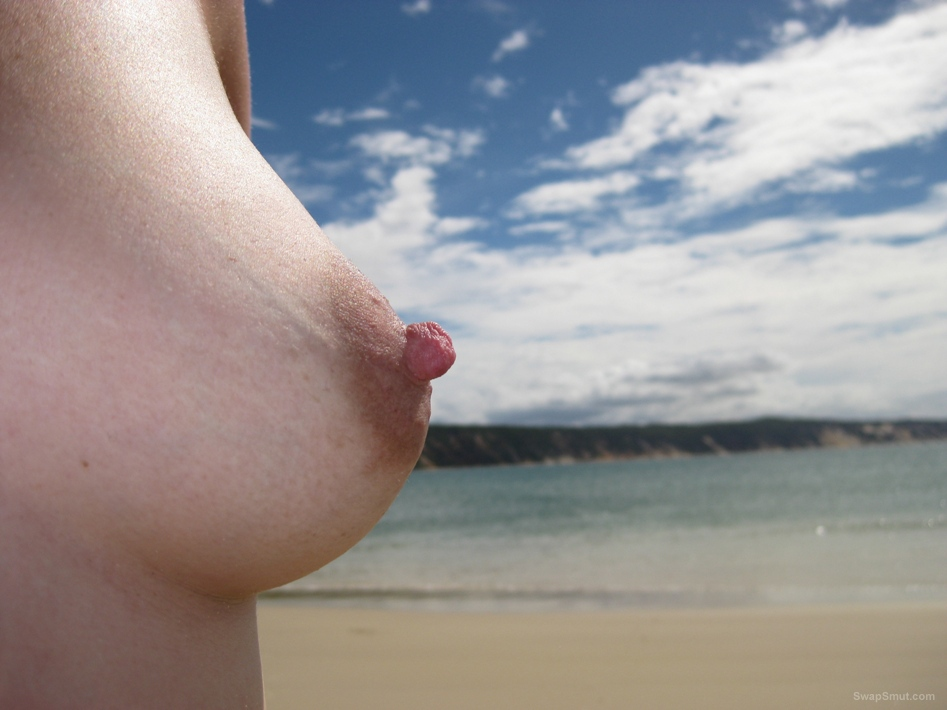 Sex at beach Just love getting nude and squirting milf from tits