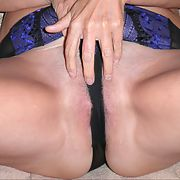 A naughty mature granny playing with her pussy and my cock
