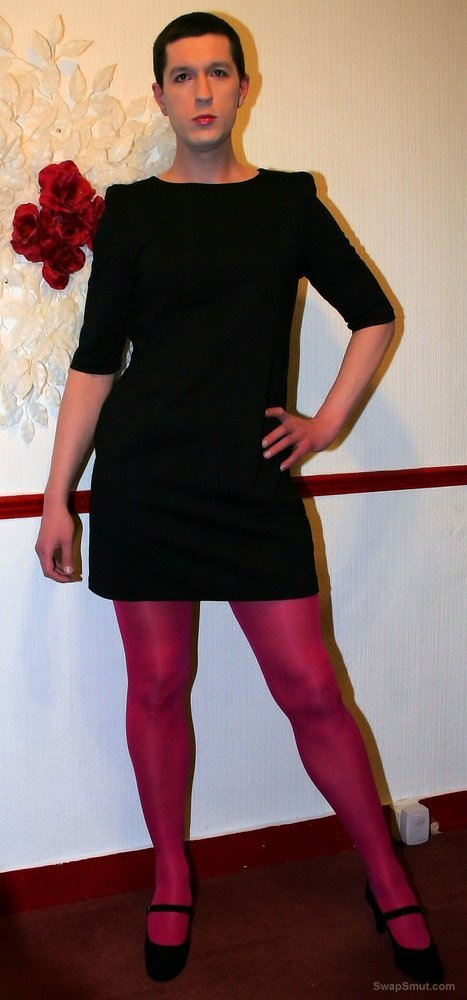 Black dress & pantyhose
