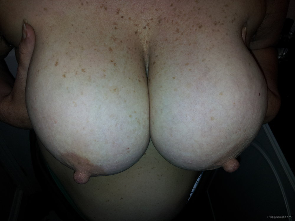 Wife's big tits for your viewing pleasure what would you do with her