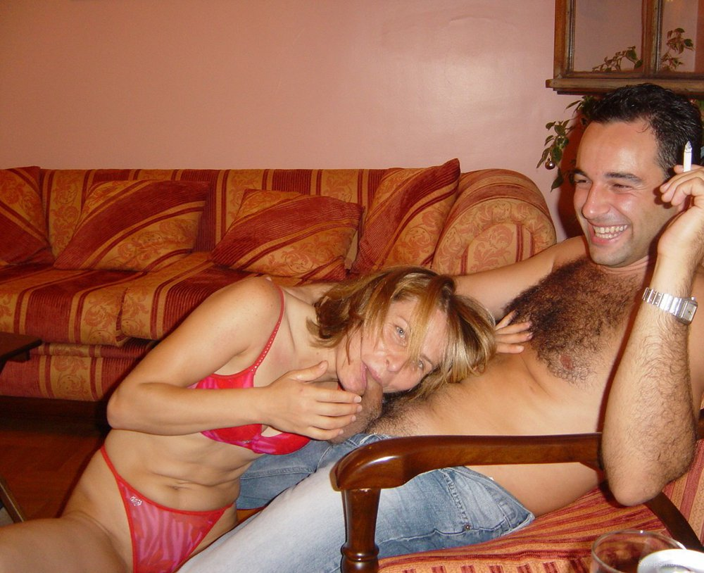 A stunning wife having some adult fun with hubby copulating