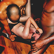 Blindfold fucked by some black students