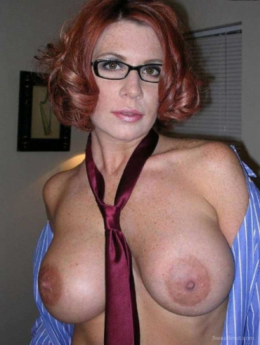 Natural Big Tits Redhead