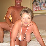 Sexy granny loves the young cock and cum