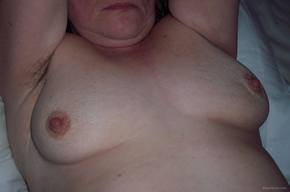 Wife Judy gets her saggy veiny tits out dressed and undressed