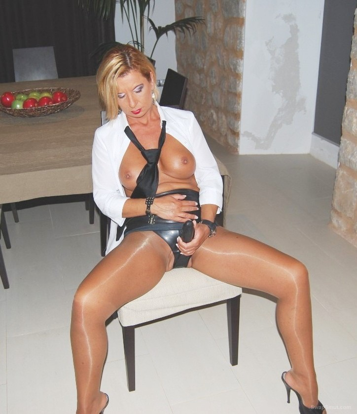 My sexy french milf returns to tease us once again strapon fetish