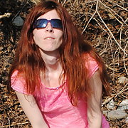 Kristi stripping in the park for hikers can watch