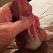 My cock shooting its load all over, Came hard this time