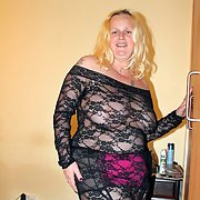 Randy Rachel Blonde BBW in See Through Dress Showing Of Big Juggs