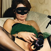 My wife masqued and using toys to arouse men