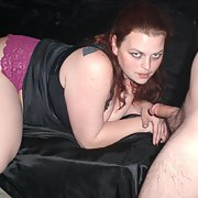 In black silk on black silk sucking and fucking on the sofa pt2