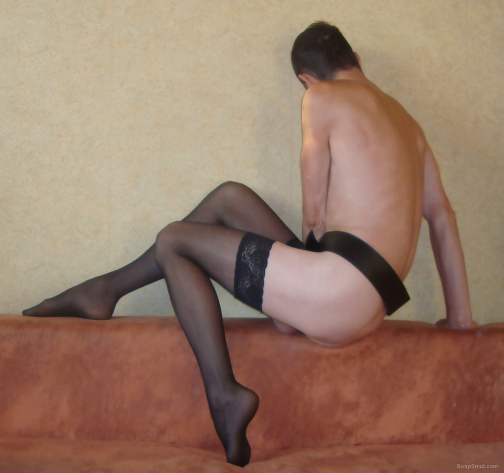 Alone at home wearing stockings I love photo sessions on the nature