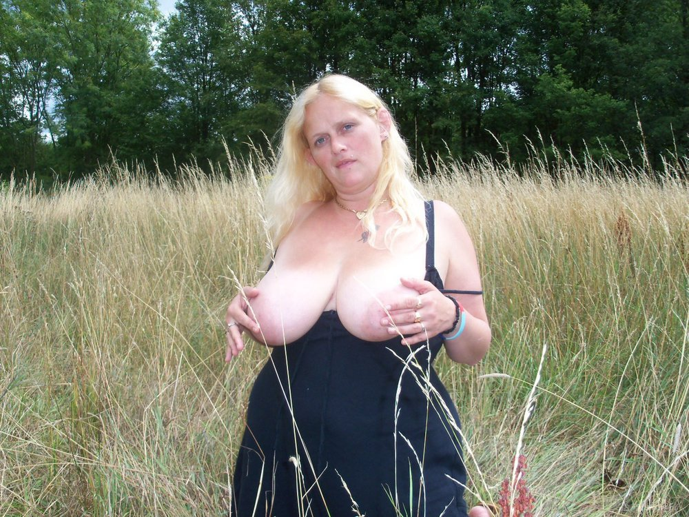 My hot wife Randy Rachel out and about enjoying the country air