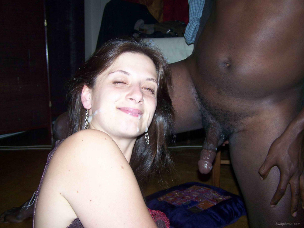 Wife loves to feel cum on her face interracial sex and anal play