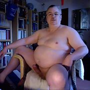 Me naked with big belly and hardon