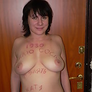Mature amateur sucking cock big tits on show restrained by a leash like a dog