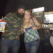 My wife flashing at the 2013 Sturgis biker rally