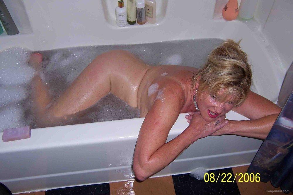 susan getting a bath