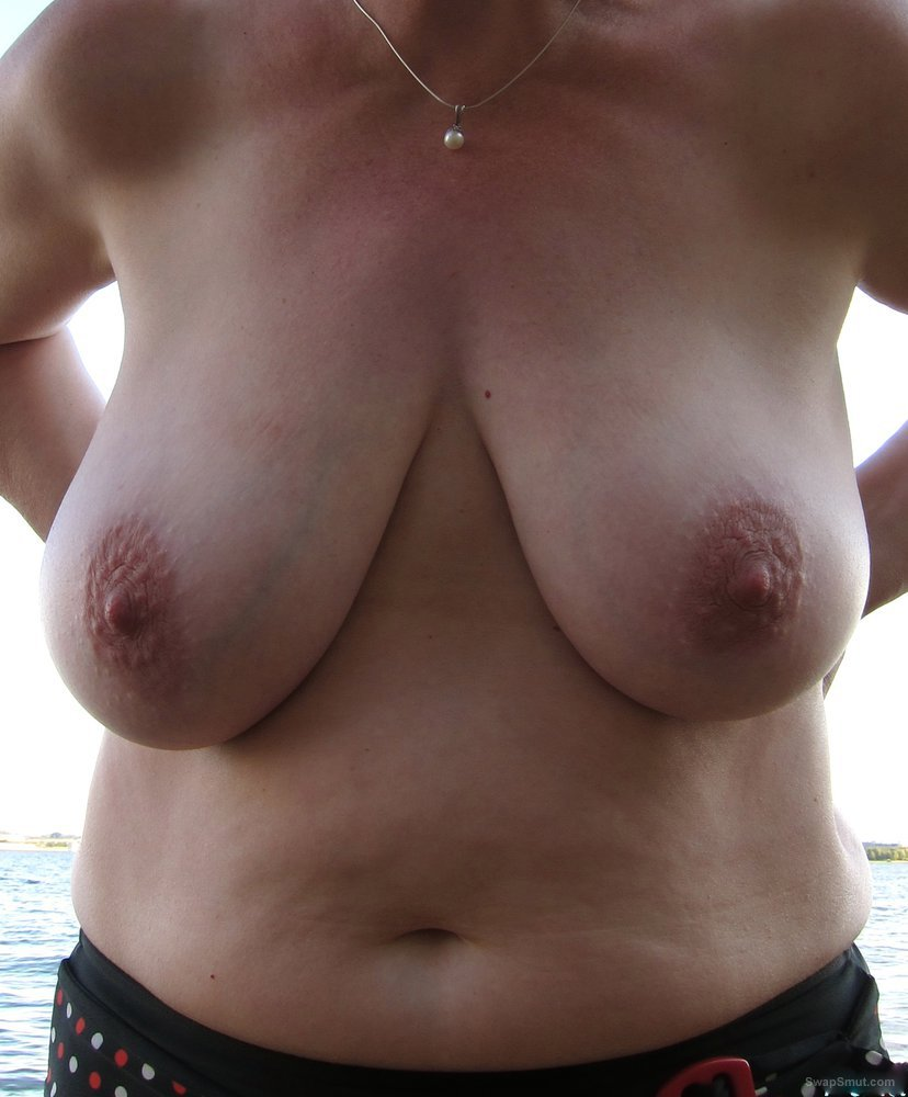 Ivana loves to topless outside to show of her big tits
