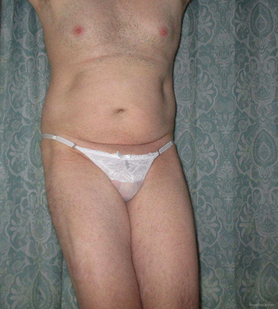 My White Bow Pantied Cock Ass
