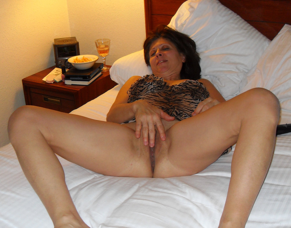 Diane Spreads Her Legs Wearing Tiger Print Nightie