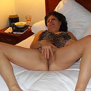 Diane Spreads Her Legs Wearing Tiger Print Nightie